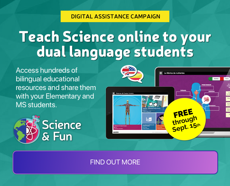 Teach Science online to your dual language students