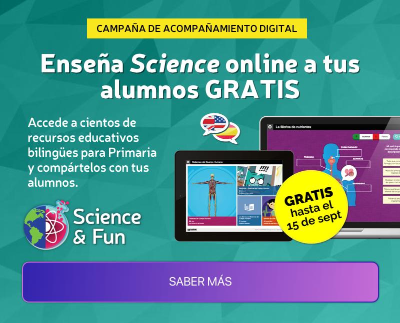 Enseña Science online a tus alumnos GRATIS